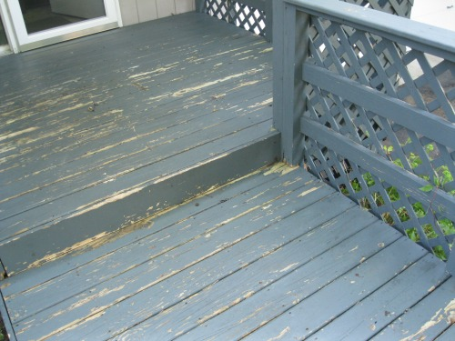 Deck after power wash and sanding